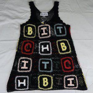 """WILDFOX """"BITCH"""" CROCHET DRESS"""
